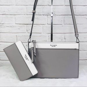 2PCS Kate Spade Cameron Crossbody Bag Wallet Set